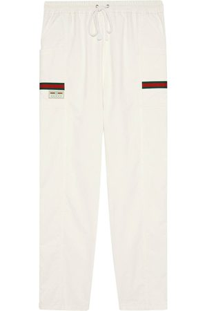 Gucci Logo patch track trousers - Neutrals