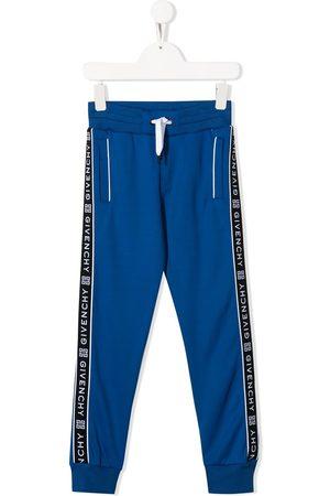 Givenchy Boys Sweatpants - Logo drawstring track trousers