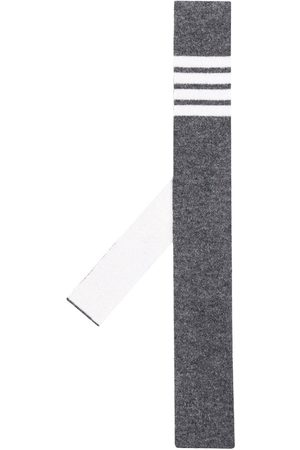 Thom Browne Men Bow Ties - Cashmere knit 4-Bar tie - Grey