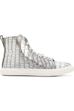 Giuseppe Zanotti Men Sneakers - Metallic croco sneakers