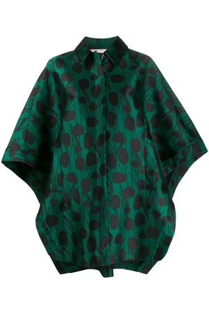 La DoubleJ Women Ponchos & Capes - X Mantero Super Woman Moses Verde satin cape