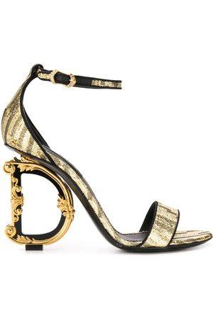 Dolce & Gabbana Women Sandals - Baroque D&G heeled sandals