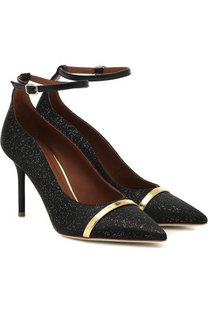 MALONE SOULIERS Exclusive to Mytheresa – Molly glittered satin pumps