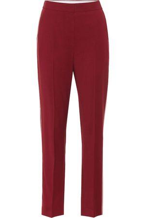 Roksanda High-rise wool crêpe pants