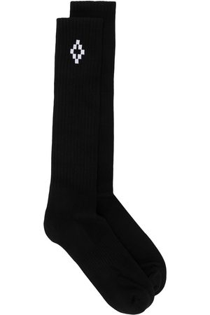 MARCELO BURLON Men Socks - Cross logo ankle high socks