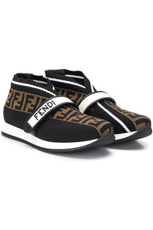 Fendi TEEN FF touch strap sneakers
