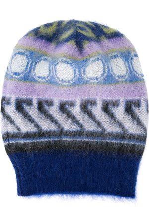La DoubleJ Embroidered beanie - Ittica Blu