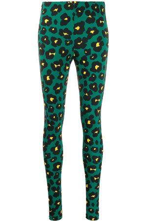 La DoubleJ Floral leopard print leggings