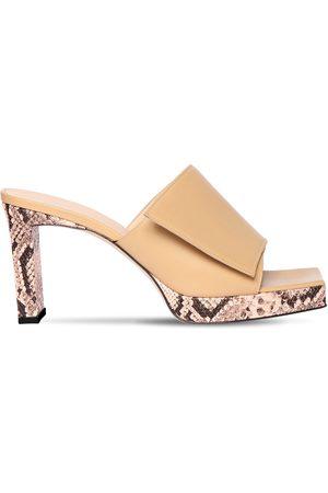 Wandler 85mm Leather Platform Sandals