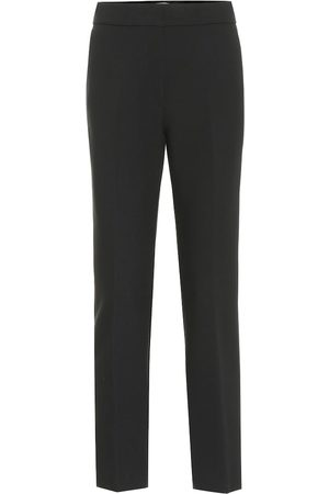 Msgm Mid-rise slim stretch-cady pants