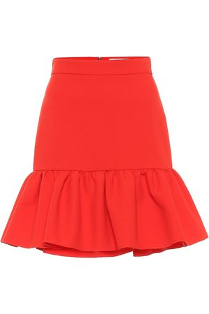 Msgm Ruffled high-rise cady miniskirt