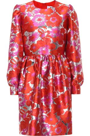 Msgm Floral brocade minidress