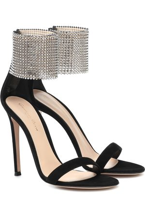 Gianvito Rossi Adore 110 embellished suede sandals