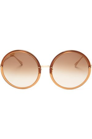 Linda Farrow Kew Oversized Round Acetate Sunglasses - Womens