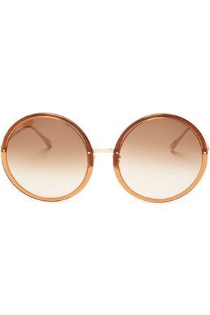 Linda Farrow Women Round - Kew Oversized Round Acetate Sunglasses - Womens