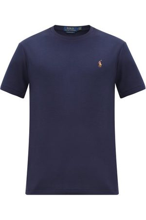 Polo Ralph Lauren Polo-embroidered Cotton-jersey T-shirt - Mens - Navy
