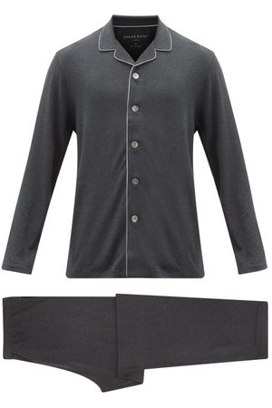 DEREK ROSE Marlowe Stretch-jersey Pyjamas - Mens - Grey