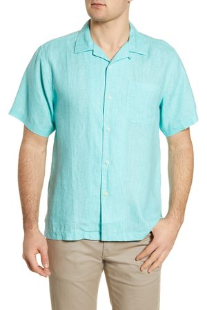 Tommy Bahama Men's Sea Glass Short Sleeve Button-Up Linen Camp Shirt