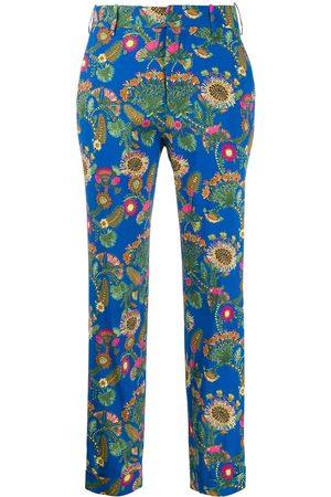 La DoubleJ Women Capris - X Mantero Thistle Blu capri trousers