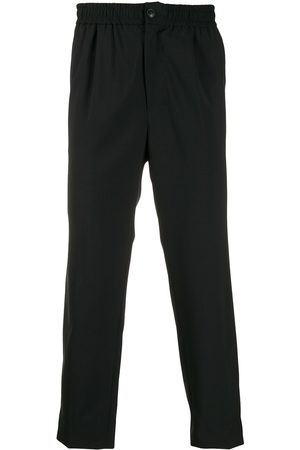 Ami Elasticized-waist cropped fit trousers