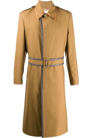MARCO DE VINCENZO Trimmed belted coat - Neutrals