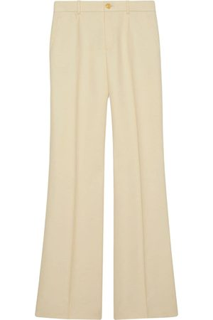 Gucci High-waisted flared trousers - Neutrals
