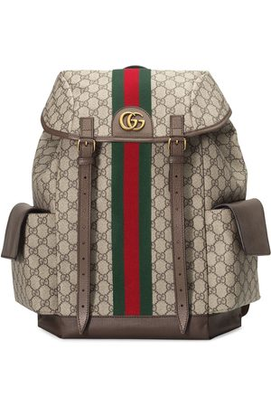 Gucci Men Rucksacks - Monogram pattern backpack - Neutrals