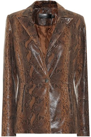 J Brand Londyn snake-effect leather blazer