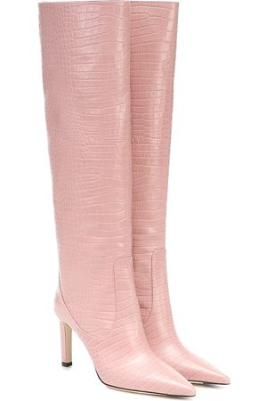 Jimmy choo Mavis 85 leather knee-high boots
