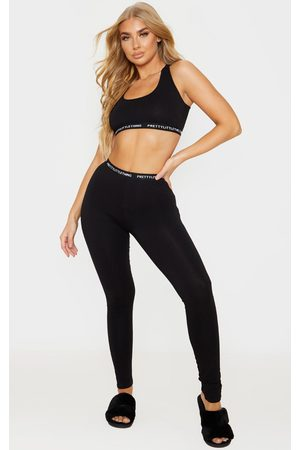 PRETTYLITTLETHING Bralet and Legging Pj Set