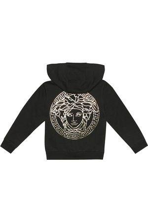VERSACE Girls Hoodies - Logo cotton hoodie