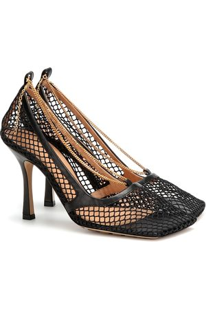 Bottega Veneta Women Heels - Mesh and leather pumps