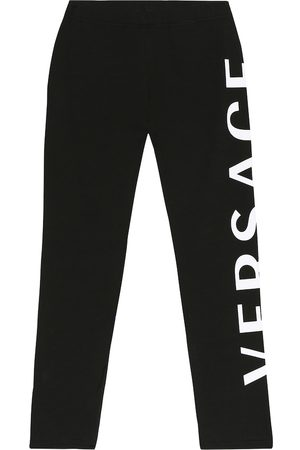 VERSACE Girls Leggings - Stretch-cotton leggings