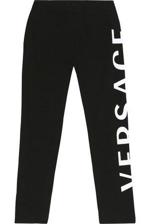 VERSACE Girls Leggings - Stretch-cotton leggings