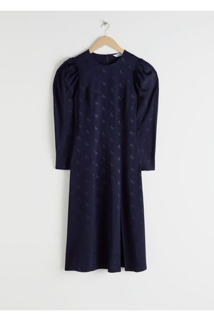 & OTHER STORIES Horse Jacquard Midi Dress