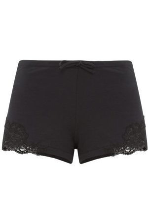 La Perla Lace-trimmed Cotton-blend Jersey Pyjama Shorts - Womens