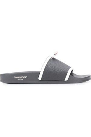 Thom Browne Men Sandals - Molded pool slides - Grey