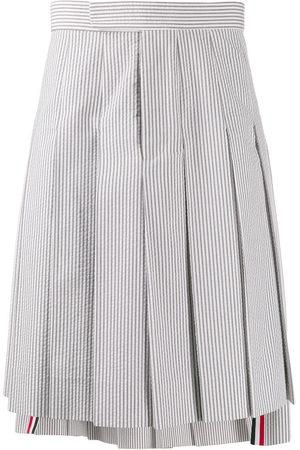Thom Browne Seersucker Classic Rise Skirt - Grey