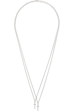 Dsquared2 Double cross necklace - Metallic