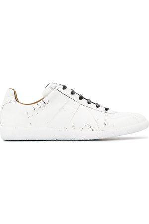 Maison Margiela Cracked paint-effect low-top sneakers