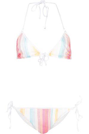 Missoni Striped halterneck bikini set