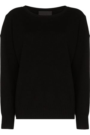 NILI LOTAN Boat-neck cashmere knit jumper