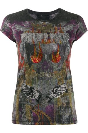 Philipp Plein Rhinestone embellished T-shirt - Grey