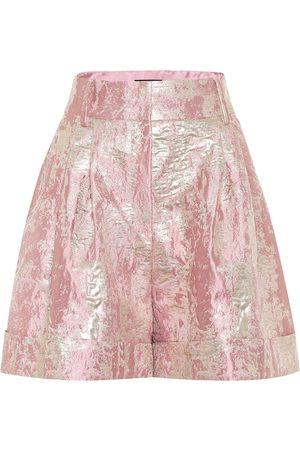 Dolce & Gabbana High-rise lamé jacquard shorts