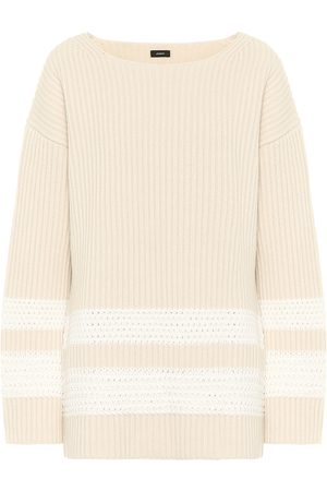 Joseph Ribbed wool and cotton sweater