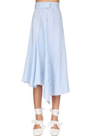 J.W.Anderson Asymmetric Striped Poplin Skirt