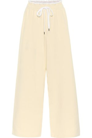 Marni Wide-leg cotton trackpants