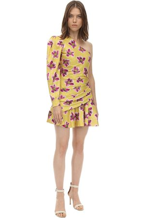 Borgo De Nor Printed Satin Jacquard Mini Dress