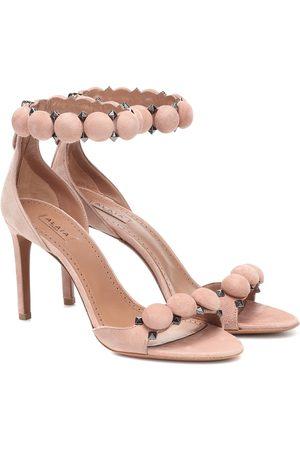 Alaïa Embellished suede sandals