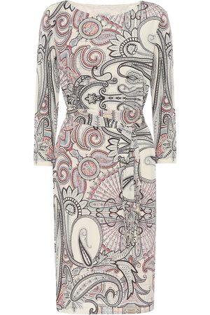 Etro Paisley-print crêpe dress
